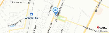 Марсельский на карте Одессы