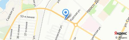 Ніка на карте Одессы