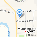 Эвелина на карте Санкт-Петербурга