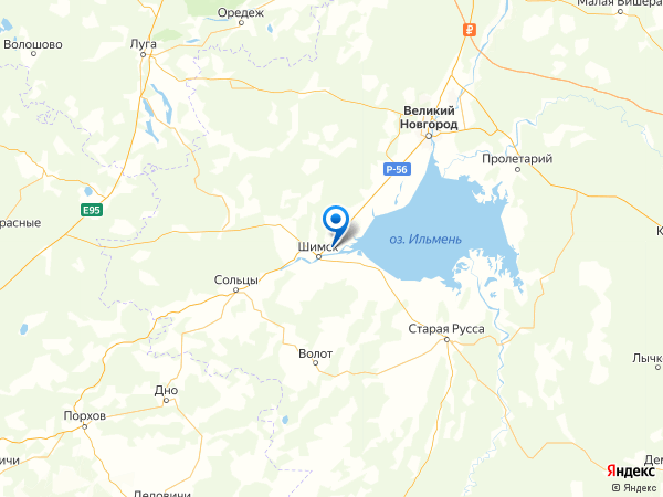 деревня Ильмень на карте