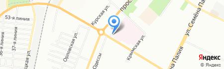 Городская поликлиника №29 на карте Одессы