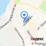 Гном на карте Санкт-Петербурга