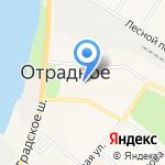 Администрация городского поселения Отрадненское на карте Санкт-Петербурга