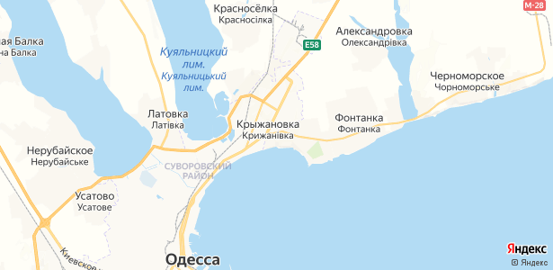 Крыжановка на карте