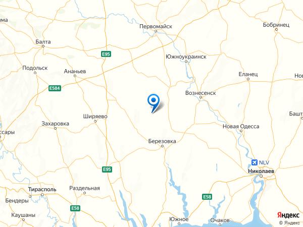 село Новопокровка на карте