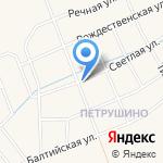Петрушинское поле на карте Санкт-Петербурга