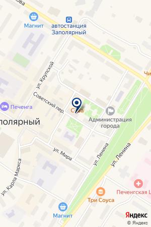 МАГАЗИН МИР МЕБЕЛИ на карте Полярного
