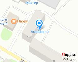 Схема местоположения почтового отделения 184433