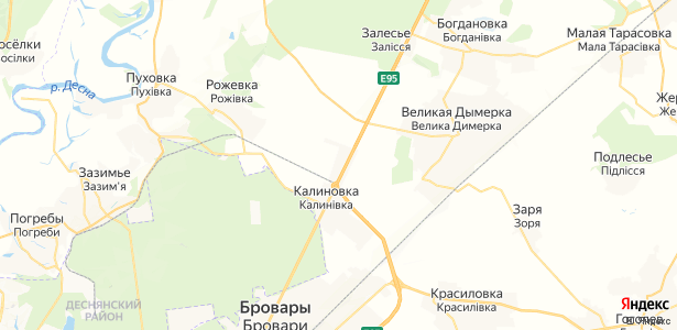 Скибин на карте