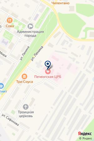 ЗАПОЛЯРНИНСКАЯ ГОРОДСКАЯ БОЛЬНИЦА на карте Полярного