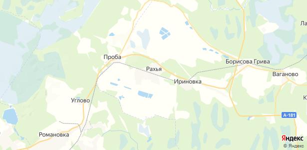 Рахья на карте