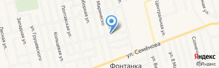 Стриж на карте Фонтанки