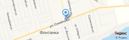 АЗС TatNeft на карте Фонтанки