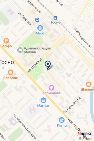 ПРОДОВОЛЬСТВЕННЫЙ МАГАЗИН ПАВЛОВА на карте Тосно