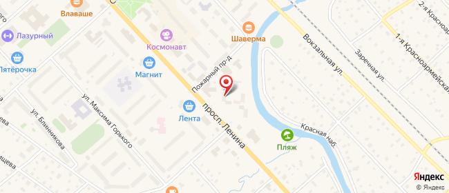 Карта расположения пункта доставки На Ленина в городе Тосно