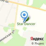 Стар Дансер на карте Санкт-Петербурга
