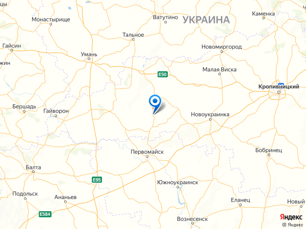 село Добрянка на карте