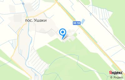 Местоположение на карте пункта техосмотра по адресу Ленинградская обл, Тосненский р-н, п Ушаки, ул Круговая, зд 3А