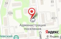 Схема проезда до компании Администрация городского поселения Дубровка в Дубровке