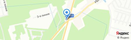 Шиномонтажная мастерская на Ириновском шоссе на карте Борисовой Гривы