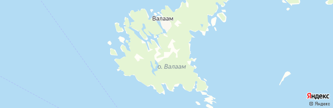 Валаам на карте