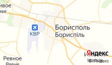 Гостиницы города Борисполь на карте