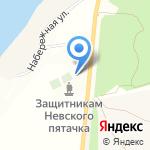 Часовня Георгия Победоносца в г. Кировске на карте Санкт-Петербурга