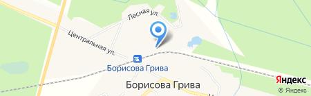 Борисова Грива на карте Борисовой Гривы