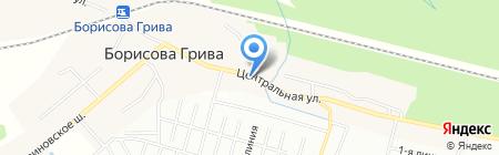 Рыбная лавка на Центральной на карте Борисовой Гривы