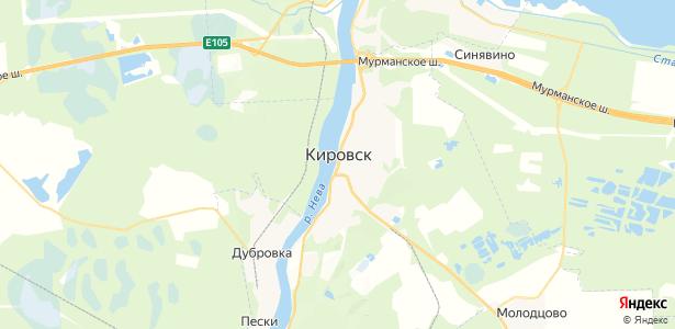 Кировск на карте