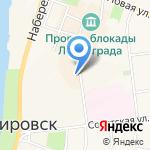 Кировский на карте Санкт-Петербурга