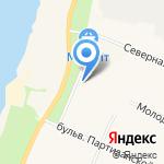 Киоск по продаже мороженого на карте Санкт-Петербурга