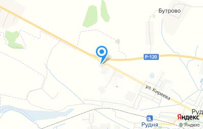 Местоположение на карте пункта техосмотра по адресу Смоленская обл, г Рудня, ул Киреева, д 197