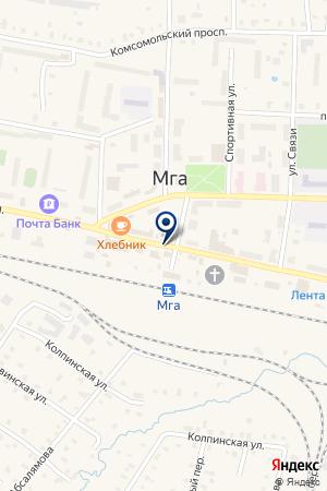 МГИНСКИЕ ЯСЛИ-САД № 5 на карте Кировска