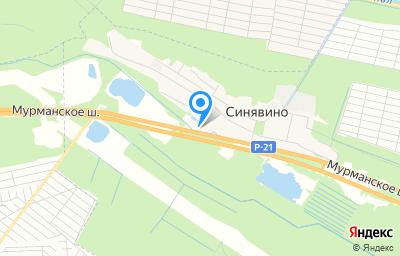 Местоположение на карте пункта техосмотра по адресу Ленинградская обл, Кировский р-н, гп Синявино, пер Садовый, д 7А