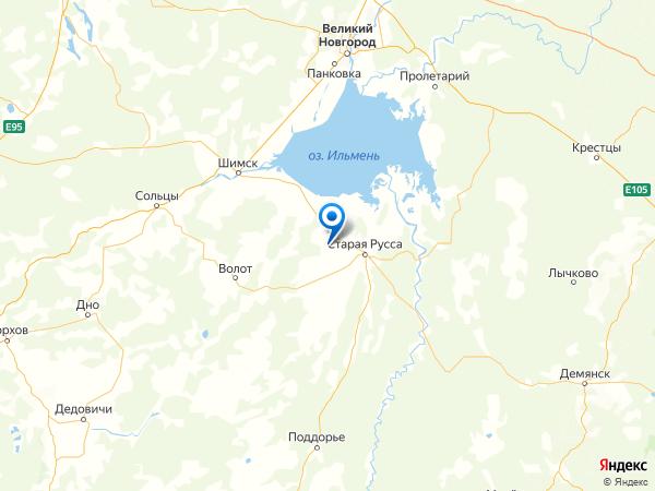деревня Пестово на карте