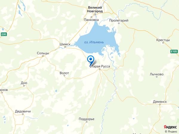 деревня Большое Орехово на карте