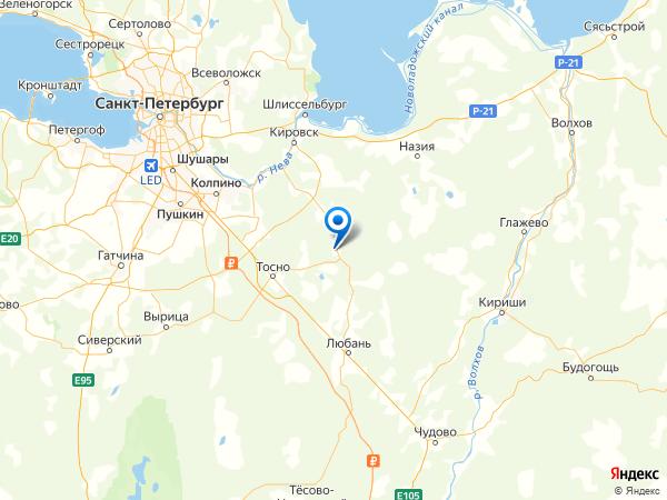 поселок Шапки на карте