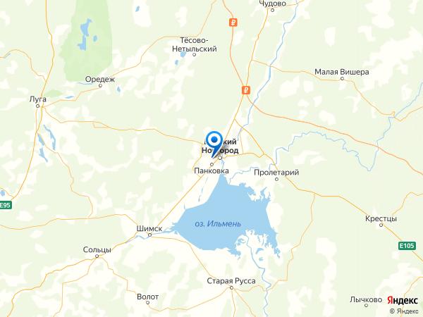 деревня Лешино на карте