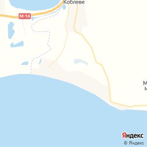 Карта города Коблево