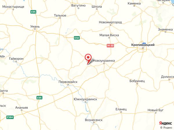 село Воробьевка на карте