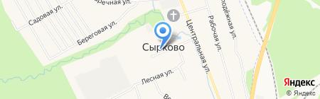 Продуктовый магазин на Пролетарской на карте Сырково