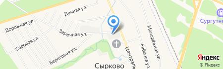 Компания по переработке древесины на карте Сырково