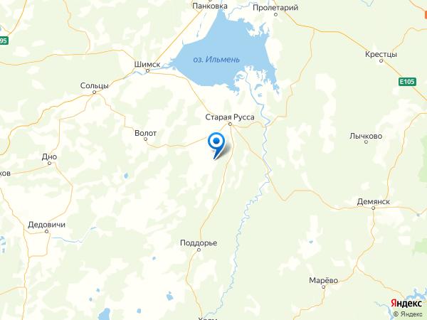 деревня Бородино на карте