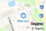 Схема проезда до компании Магнит в Сырково