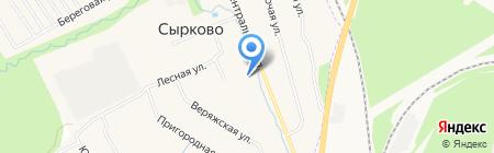 Центральная межпоселенческая библиотека на карте Сырково