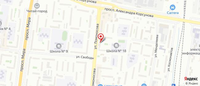 Карта расположения пункта доставки ПВЗ на Ломоносова в городе Великий Новгород