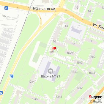 г. Великий Новгород, ул. Октябрьская,14А на карта