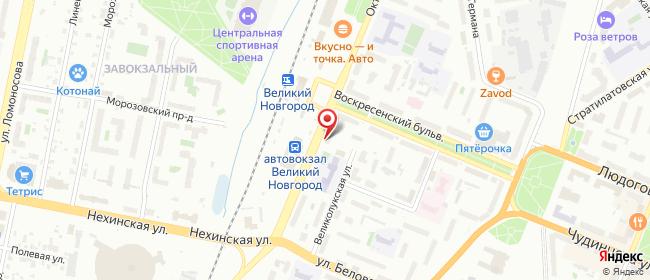 Карта расположения пункта доставки 220 вольт в городе Великий Новгород