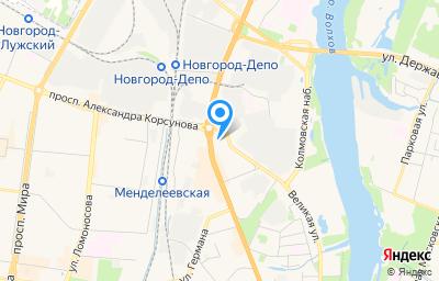 Местоположение на карте пункта техосмотра по адресу г Великий Новгород, ул Большая Санкт-Петербургская, д 46